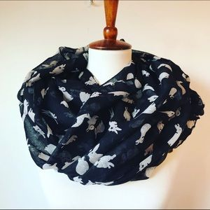 NWOT Rabbits Infinity Scarf